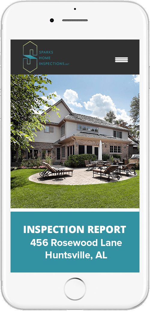 Iphone showing Inspection Report